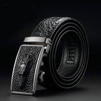 Luxury Genuine Leather Crocodile Designer Automatic Belt Hot Sale Men Belts Man Buckle Real Cow Skin