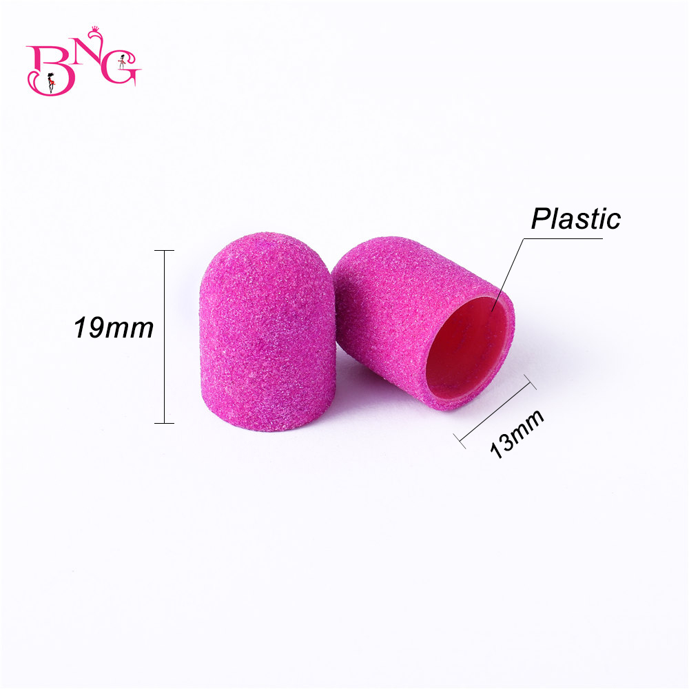 BNG 10/20pcs 13*19 Sanding Block Cap Professional Pedicure Foot Care Tool Purple Green Sanding Band Electric Nail Art 80/120/180