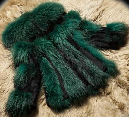 Femmes Raccon Fourrure red Survêtement Laveur Vestes Chien Pour Chaude Mode Vente Et blue Réel green Manteaux Nouvelle De Collection Naturel Raton 6TRaqF8