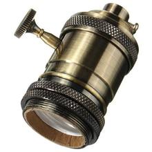 E27 ES винтажная Ретро лампа Эдисона с винтовым патроном лампа держатель светильник с выключателем бронза 110-220 В