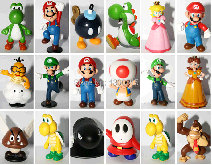 "Wholesale 18PCS <font><b>Super</b></font> <font><b>Mario</b></font> Bros 1-2.5"" <font><b>Figure</b></font> <font><b>Toy</b></font> Doll <font><b>Super</b></font> <font><b>Mario</b></font> Brothers Fun Collectible PVC <font><b>figures</b></font> <font><b>Super</b></font> <font><b>mario</b></font> <font><b>Figure</b></font> <font><b>toy</b></font>"