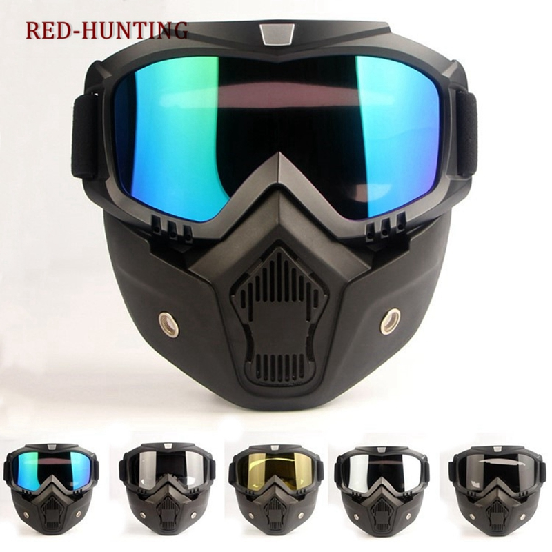 Tactical Mask Motorcycle Goggles Windproof Eyes Protector For Outdoor Paintball Airsoft Items