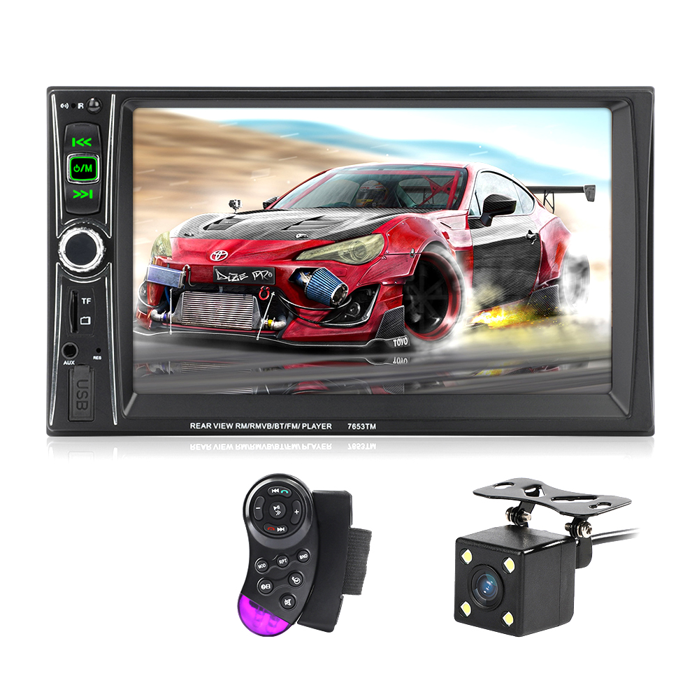 7563TM Car Radio Autoradio 7 2 Din LCD Touch Screen Multimedia Player Bluetooth Support Mirror-Link Rear View Camera image