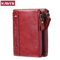 KAVIS 2017 Fashion Small Wallet Female Coin Purse Genuine Leather Women Wallet Mini Portomonee Lady Luxury