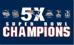 NHL TEAMS Num-rique-Impression-New-England-Patriots-5X-Super-Bowl-Champions-drapeau-90x150-cm-num-rique-imprimer