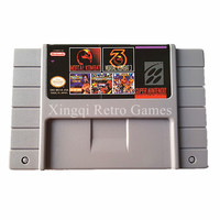 Super Nintendo SFC SNES MS18 5 In 1 Video Game Cartridge Console Card US Version English
