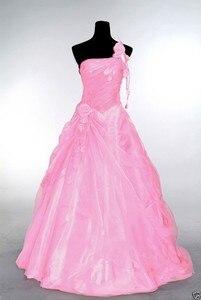 Image 3 - ANGELSBRIDEP כתף אחת Quinceanera שמלות 15 מפלגה סקסי עבודת יד פרח מקיר לקיר באורך טול 16 Vestido נשף מתוק שמלת