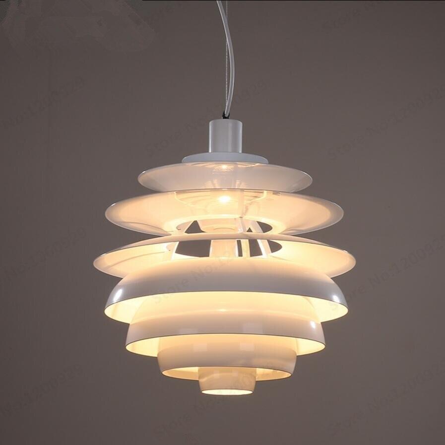 Pendentif LED lampe aluminium métal boule de neige blanc Dia 40CM suspension lampe danemark éclairage LED maison pour salon chambre