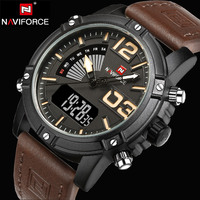 2017 New Top Luxury Brand Male LED Digital Watches Men Leather Quartz Clock Men S Military