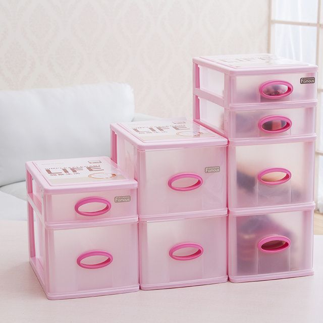 Storage Products Makeup Drawer Dresser File Storage Box Office With Racks Plastic Cabinets Desktop