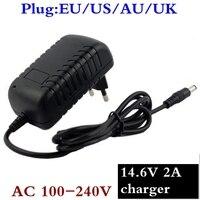 14.6 v 스마트 지능형 충전기 2a 4 s 12.8 v life lifepo4 배터리 팩 eu/us/au/uk 플러그 고품질 및 품질 보증