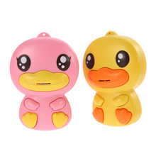 Handheld Walkie-talkie For kids 2 Pack Wireless Interphone Two Way Radio 100 Meters Range Yellow+Pink Duck toys for Children(China)