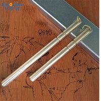 Emoshire Saten için Ayna Yüzey Pirinç Kalem Erkek Kız Üst marka Lüks Rulo Tükenmez Kalem Noel Hediyesi Bakır Tükenmez Kalem P340
