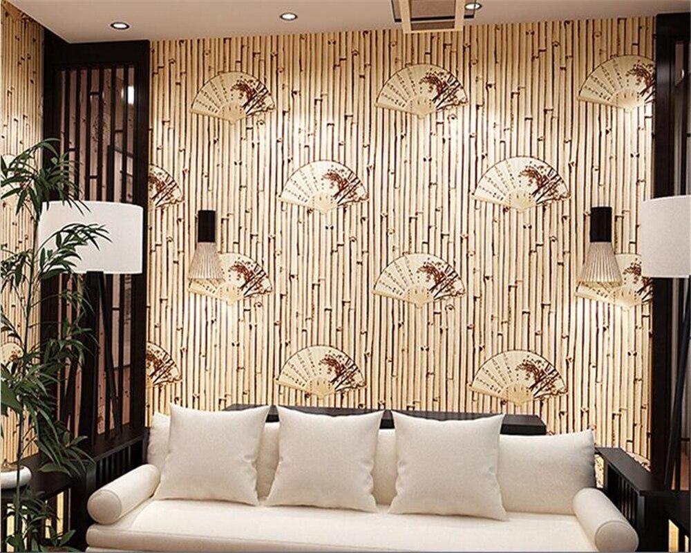 Beibehang papier peint de parede 3d ventilateur papier peint maison de thé étude hôtel fond style japonais style chinois classique papier peint rouleau