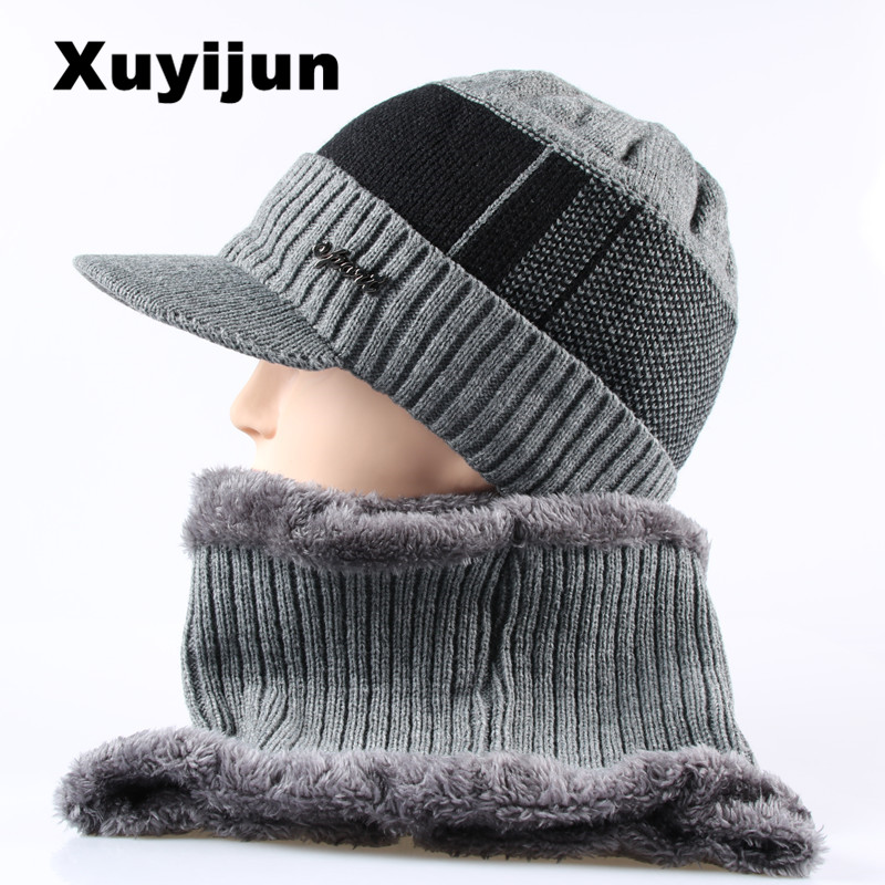 Xuyijun Balaclava Knitted hat scarf neck warmer women's winter hat For Men hat   skullies     beanies   women's hat