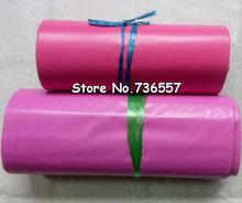 23 * 35cm100PCS koperta w kolorze różowym torebka wysyłkowa torba na pocztę kurierską tanie tanio CJEC 23*35cm pink Portfel koperta plastic Prezent koperty