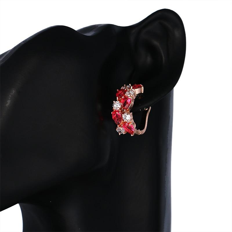 Colorful Rose Gold Earrings Earrings Jewelry Women Jewelry