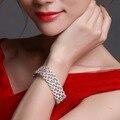Alibaba.com Латунь ювелирные изделия Свадебные аксессуары 3 слоя Проложить параметр Кубического Циркония Свадебные браслеты для подружек невесты