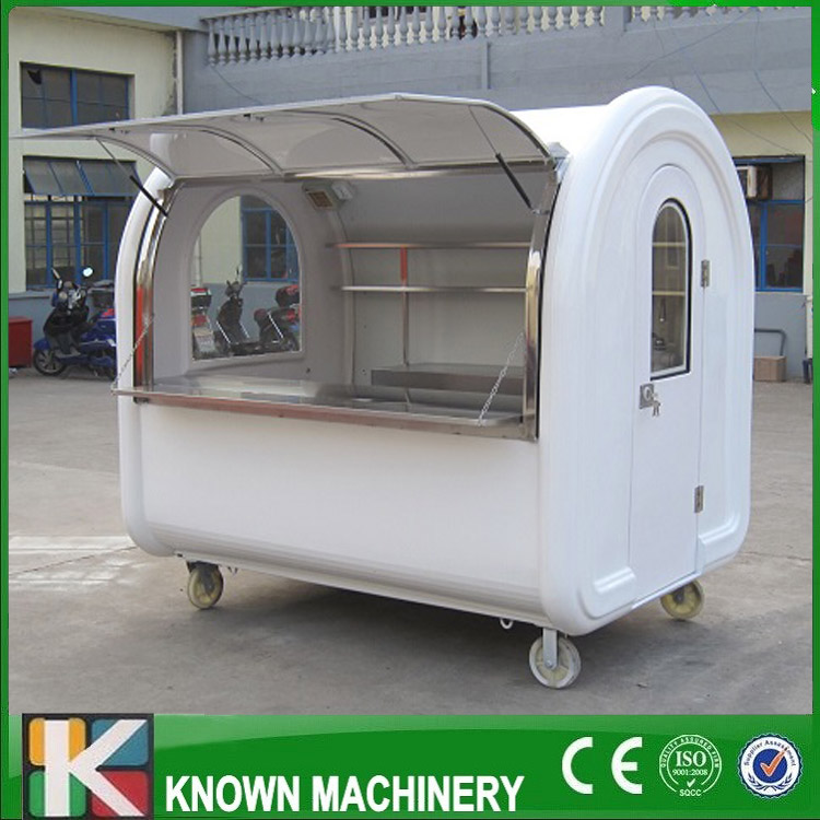 KN-220 mobile snack food carts/trailer/ ice cream truck customized for sale with free shipping by sea multifunctional mobile food trailer cart fast food kitchen concession trailer