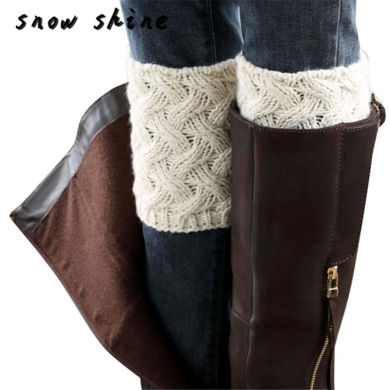 snowshine #4001 Winter Women Brief Paragraph Coarse Needle Leg Warmers Socks Boot Cover free shipping