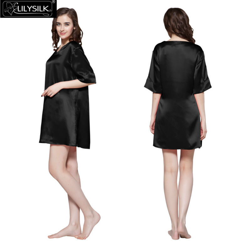 1000-black-22-momme-wide-v-neck-silk-nightgown