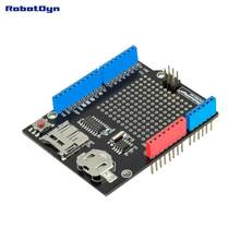 Data logger shield compatible for Arduino, MicroSD-card + RTC (Assembled) with battery(China)