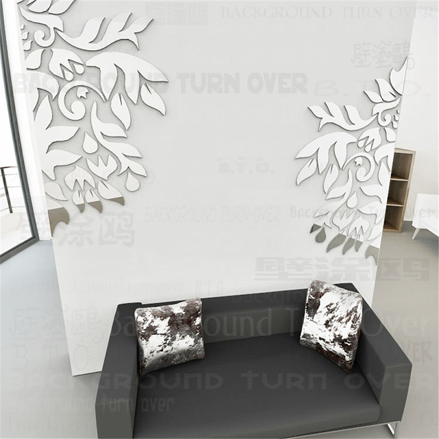 29pcs/set Diagonal Plant Family Tree Acrylic Wall Decal Removable Living/Dining  Room Home