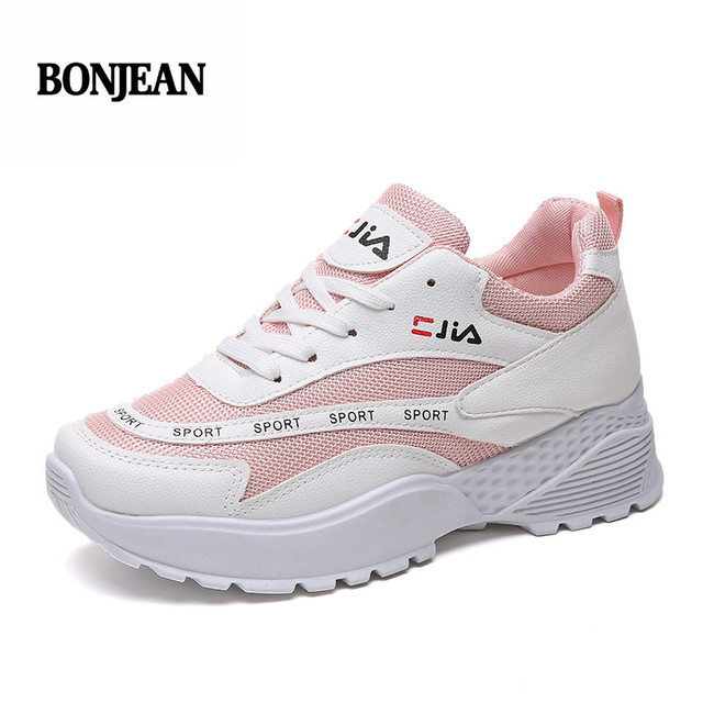 Brand Tenis Mujer 2018 New Summer Women Tennis Shoes Breathable Gym Sport  Shoes Women Stability Sneakers 9a25f396c8