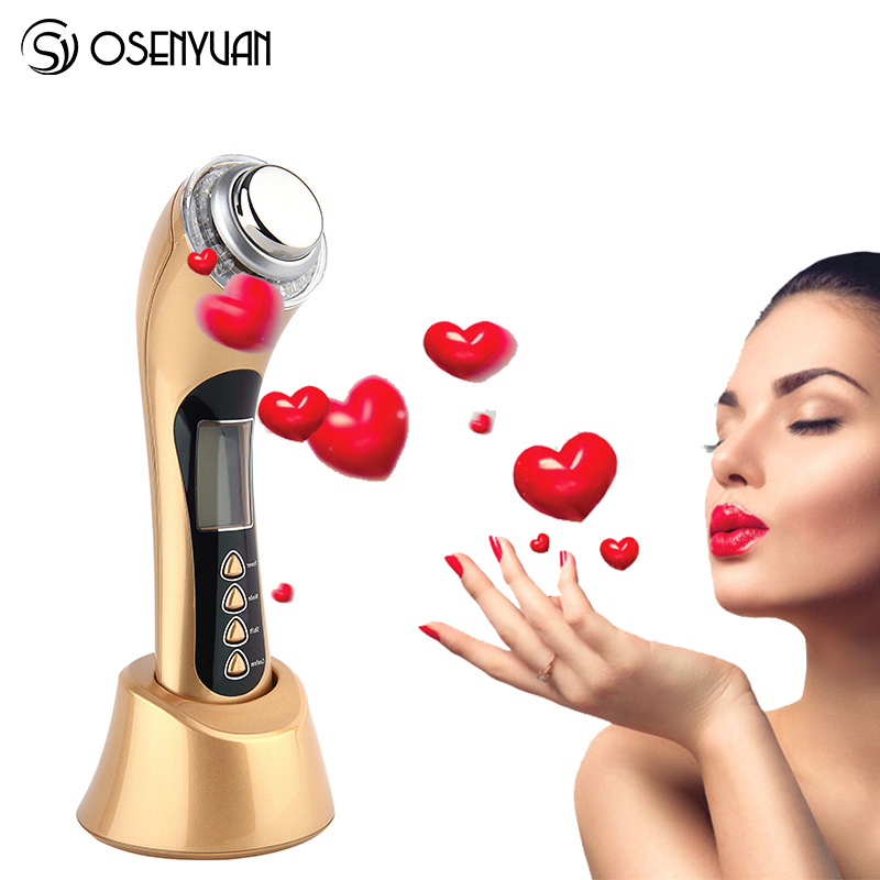 Home Use 3MHZ Ultrasonic Face Deep Cleaning Ion Nutrition Face Lifting Tonning Skin Renewal System Led Photon Facial Massager-in Powered Facial Cleansing Devices from Home Appliances    3