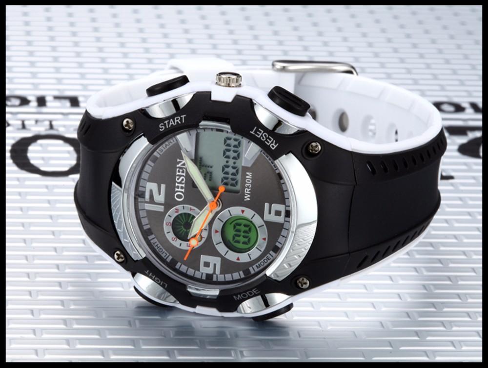 Original Ohsen Brand Fashion Sports Men's Watches 30M Waterproof Rubber Black Rubber Band Digital Sport Wristwatch for Men Gift (35)