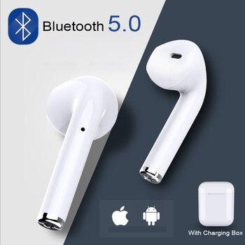 I7s TWS מיני אלחוטי Bluetooth אוזניות סטריאו Earbud אוזניות אוזניות מיקרופון עבור Iphone Xiaomi כל חכם טלפון i10 i12