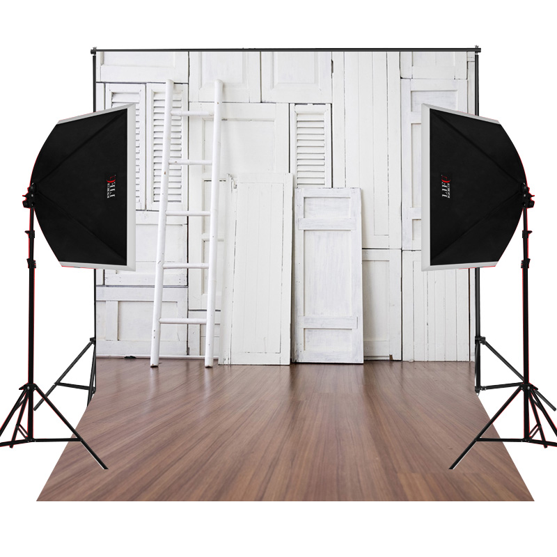 White Ladder Closet Wooden Floor Background For Wedding Photos Props Camera  Fotographical Digital Cloth Vinyl Studio Photography