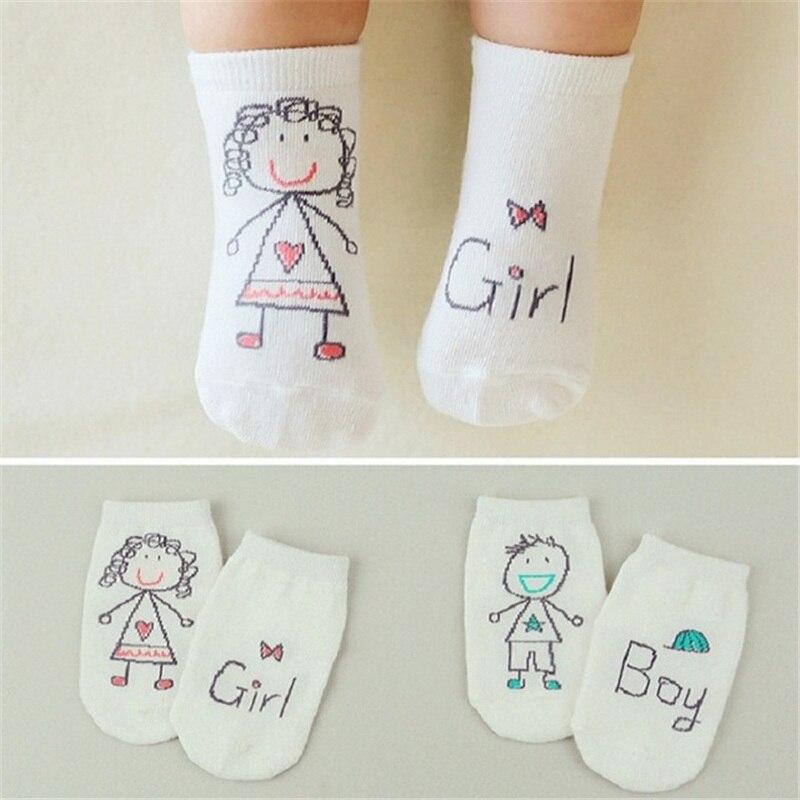2018 New Spring Baby Socks Newborn Cotton Boys Girls Cute Toddler Asymmetry Anti-slip Socks