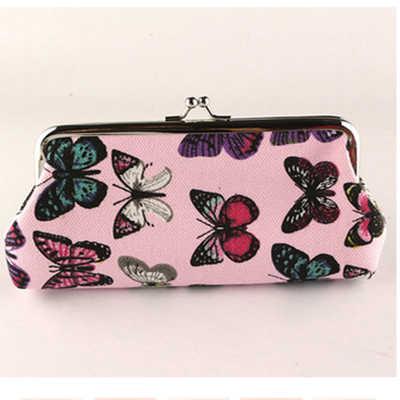 XIYUAN MARKE Fashion Schmetterling druck leinwand student rosa brieftasche für handy orcash grün lange geldbörse für mädchen geschenke