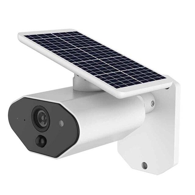 2.0MP שמש מופעל IP מצלמה 1080P חיצוני עמיד למים אבטחת CCTV WiFi מצלמה עם נטענת סוללה וידאו מעקב
