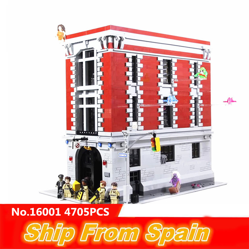 ship from Spain 16001 15011 City Street Ghostbusters Firehouse Headquarters brinquedos building blocks 75827 10246 brick