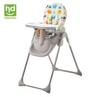 Happy Dino ребенка стул многофункциональный Портативный детский стульчик регулируемые и складные детское кресло для кормления моющиеся для 7 36