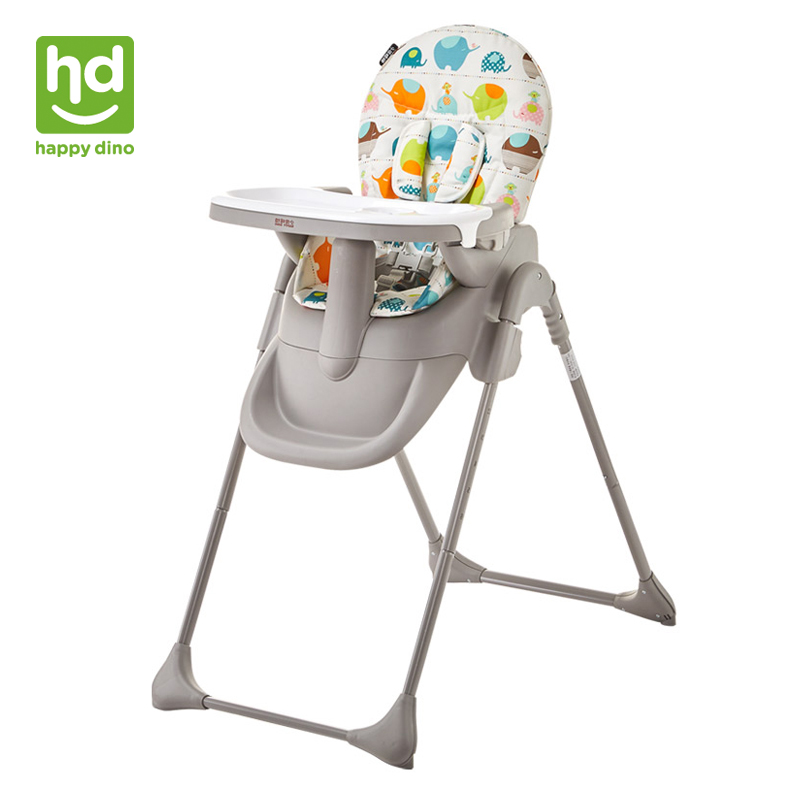 Happy Dino Baby Dining Chair Multifunction Portable Infant Highchair Adjustable & Foldable Baby Feeding Chair Washable for 7-36M baby highchair foldable high chair for kids adjustable feeding chair with pu leather cushion dining table with wheels