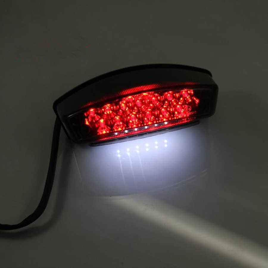 1 Piece of 12V Universal Motorcycle Motorbike LED License Plate Light,Rear Tail Lamp White Light Nikou LED Tail Lights