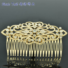 Rhinestone Crystal Palace Wedding Bride Hair Comb Hairpins Side Combs Hair Accessories Jewelry XBY083