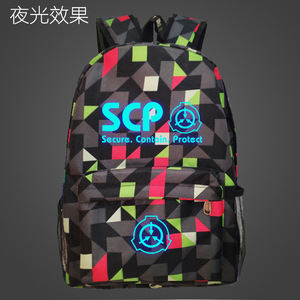 Image 2 - SCP Secure Contain Mochila escolar protectora, luminosa, nocturna, bolso para estudiante, Notebook, Mochila de uso diario, Mochila que brilla en la oscuridad