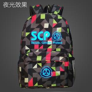 Image 2 - Sac à dos SCP sécurisé, protection du contenu nocturne lumineux, sac à dos pour étudiant cahier, sac à dos quotidien qui brille dans la nuit