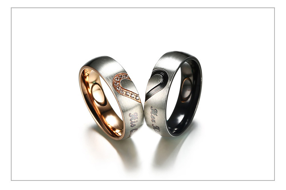 Queen Couple Wedding Band Ring 51