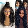 7А Класс Virgin Бразильские Волосы Вьющиеся Парик Для Черных Женщин Glueless Полное Кружева Парики Человеческих Волос, вьющиеся Фронта Шнурка Человеческих Волос Парики