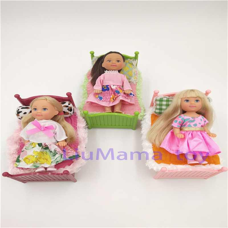 Doll Toy Set American Sister Kelly Accessories Doll Bed children pretend  toy accompany boy girl Sheets Pillow Doll Toys Gift