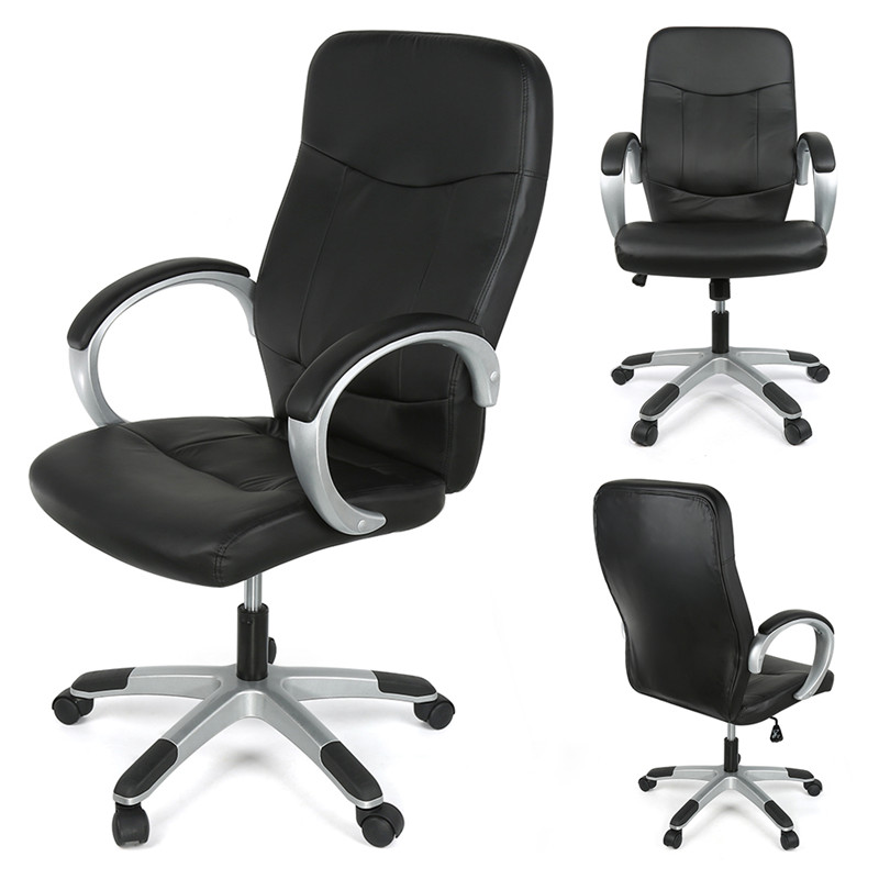 DOORSACCERY Grey/black PU Leather Lift Computer Chair Comfortable Office Bar Chair With Wheels Free Shiping In DE FR aquapulse 4122b grey black