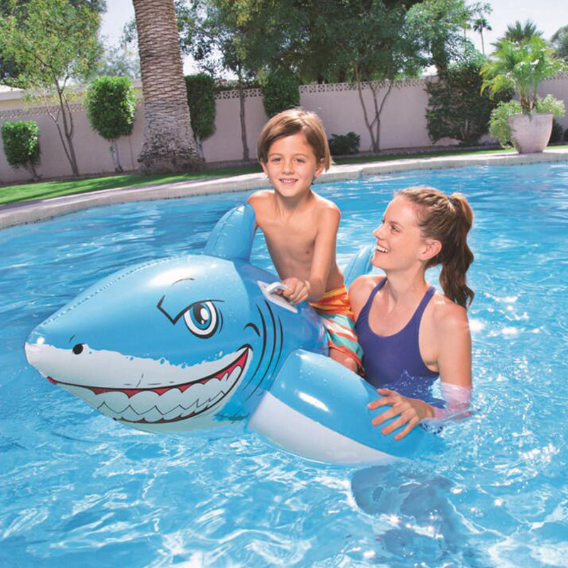 183*102cmChildren's children inflatable mount swimming pool shark floating buoy floating island air mattress swimming pool toys