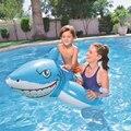 183 * 102cmChildren's niños tiburón inflable montaje piscina flotante boya flotante isla colchón de aire piscina juguetes