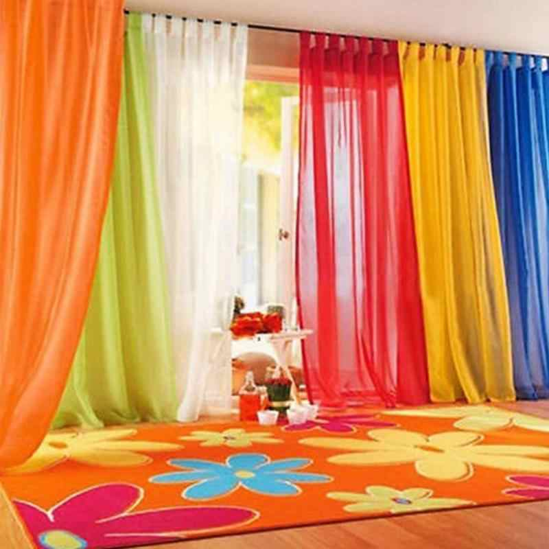200cm x 100cm Door Windows Panel Curtainf for Living Room Divider Yarn String Curtain Strip Drape Decor Cortinas 11 Colors