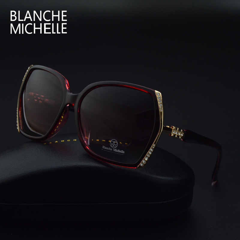 Image 4 - Blanche Michelle High Quality Oversized Polarized Sunglasses Women UV400 oculos de sol Gradient Driving Sun Glasses With BoxWomens Sunglasses   -